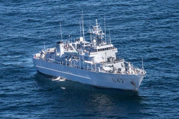 Vidmanto Balkūno/15min.lt nuotr. /Baltijos jūroje treniravosi karo laivai