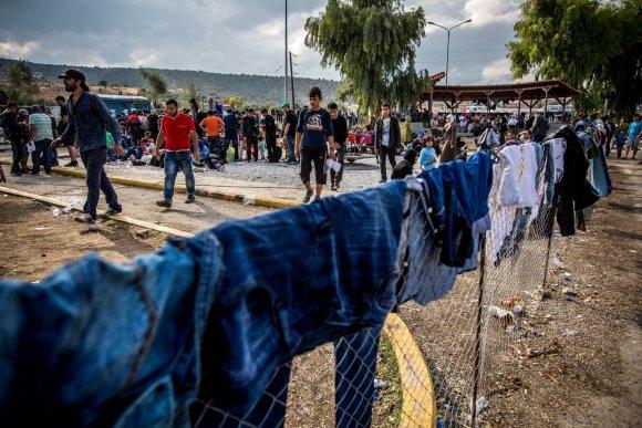 Vidmanto Balkūno/15min.lt nuotr./JTO pabėgėlių stovykla Lesbo saloje