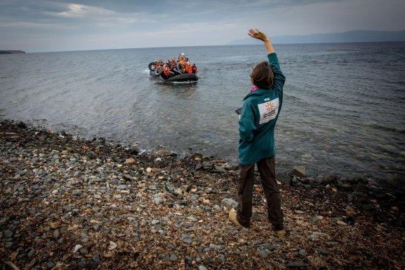 Vidmanto Balkūno/15min.lt nuotr./Lesbo saloje dirbantys savanoriai padeda migrantams