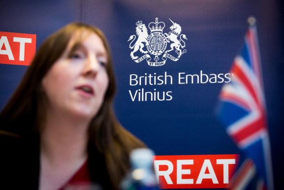 Vidmanto Balkūno / 15min nuotr./Jungtinės Karalystės ambasadorė Lietuvoje Claire Louise Lawrence