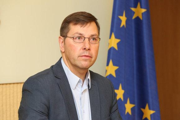 Vidmanto Balkūno / 15min nuotr./Gintaras Steponavičius susitinka su Seimo Pirmininku
