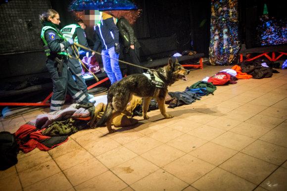 Vidmanto Balkūno / 15min nuotr./Policijos šuo Gilza klube aptiko narkotikų