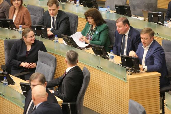 Vidmanto Balkūno / 15min nuotr./Seimo posėdis