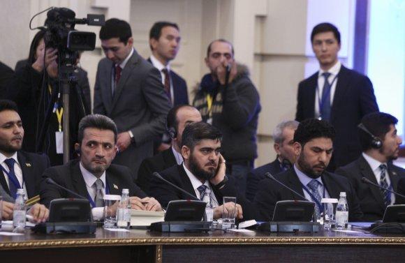 """""""Reuters""""/""""Scanpix"""" nuotr./Astanoje prasideda Sirijos sukilėlių ir vyriausybės taikos derybos"""