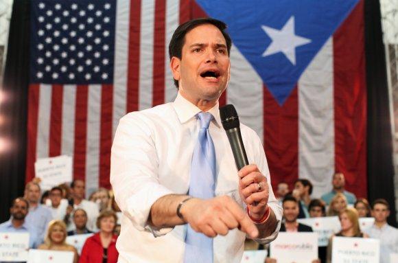 """""""Reuters""""/""""Scanpix"""" nuotr./JAV prezidentinės kampanijos pirminius rinkimus Puerto Rike laimėjo Marco Rubio"""