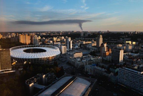 """Scanpix""/""Sipa USA"" nuotr./Gaisro dūmai Kijeve"