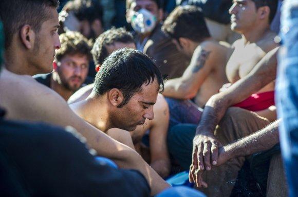 """AFP/""""Scanpix"""" nuotr./Makedonijoje sulaikyti migrantai, kurie nėra karo pabėgėliai"""