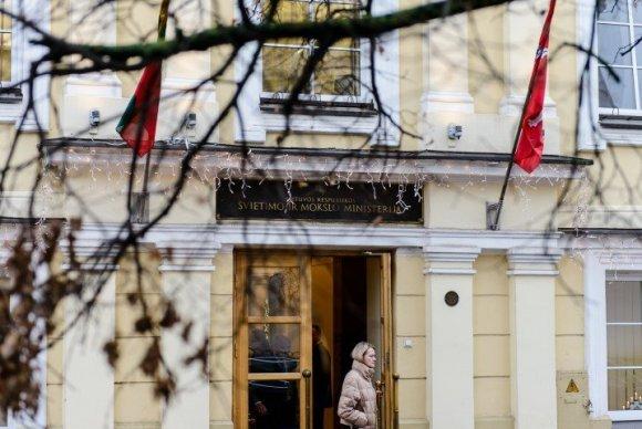 Lauros Vancevičienės nuotr./Protestas prie švietimo ir mokslo ministerijos