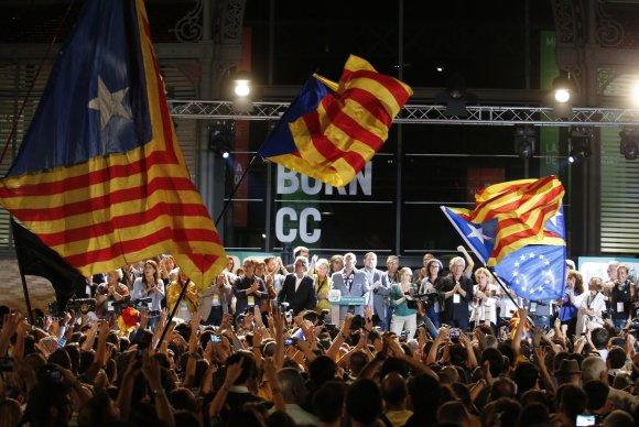 """""""Reuters""""/""""Scanpix"""" nuotr./Separatistai iškovojo daugumą Katalonijos parlamente"""