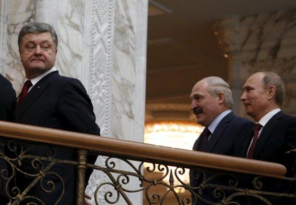 """""""Reuters""""/""""Scanpix"""" nuotr./Akimirka prieš Minsko derybas"""