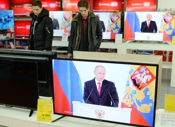 """""""Scanpix""""/""""Sputnik"""" nuotr./Vladimiro Putino metinis pranešimas"""