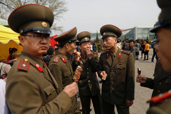 """""""Reuters""""/""""Scanpix"""" nuotr./Pramogos Šiaurės Korėjoje"""