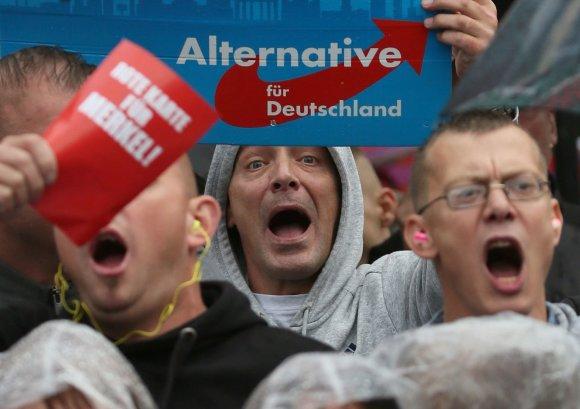 """""""Reuters""""/""""Scanpix"""" nuotr./Partijos """"Alternatyva Vokietijai"""" rėmėjai"""