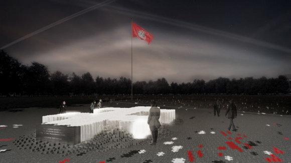 """Tomo Grunskio ir kolektyvo """"Aexn"""" pasiūlymas Lukiškių aikštės memorialui"""