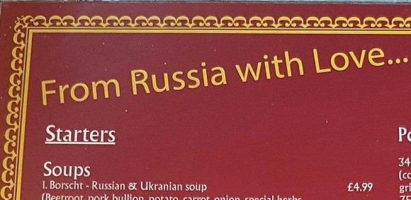 Restorano šūkis, pasak savininko, pasirinktas atsižvelgiant į britų pomėgius.