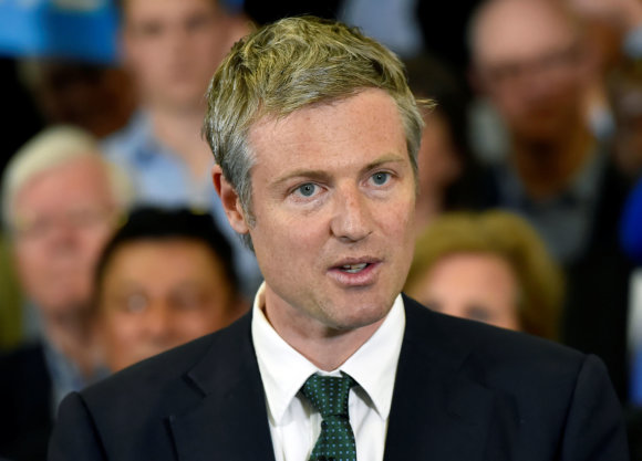 """""""Reuters""""/""""Scanpix"""" nuotr./Antras pagal populiarumą kandidatas į Londono merus - Zacas Goldsmithas."""