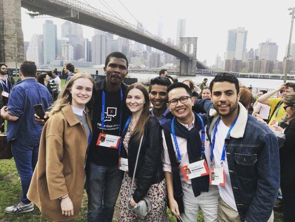 Organizatorių nuotr./Išvykusi į Niujorką ISM universiteto studentė tapo pasaulinės organizacijos nare