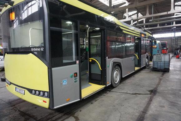 """""""Kauno autobusų"""" nuotr./Kauno gatvėse – naujos kartos lenkiškas autobusas"""