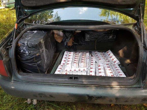 VSAT nuotr./Ignalinos rajone konfiskuoti kontrabandiniai rūkalai