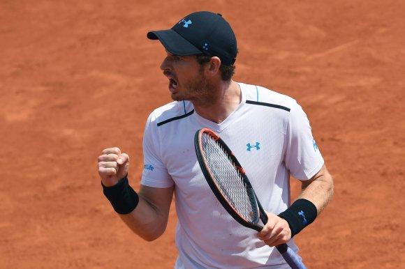 """""""Scanpix"""" nuotr./""""Roland Garros"""" aštuntfinalis: Andy Murray – Karenas Hačianovas"""