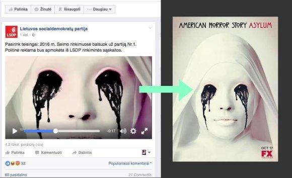 Facebook nuotr./LSDP klipe panaudotas kadras iš amerikiečių serialo?