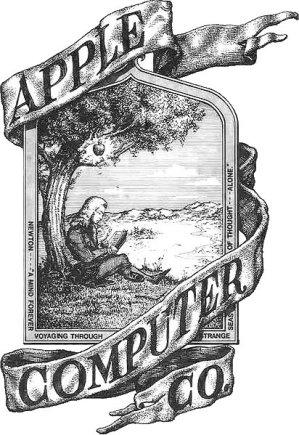 en.wikipedia.org nuotr./Pirmasis Apple logotipas
