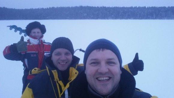 Facebook nuotr./Gintautas Paluckas žvejyboje