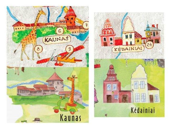 "K.Žukausko montažas/""Lietuvon.lt"" ir ""Prints on Linen"" žemėlapių palyginimas"