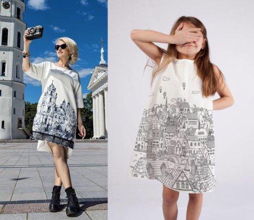 """K.Žukausko montažas/V. Jakučinskaitės ir """"Prints on Linen"""" suknelių palyginimas"""