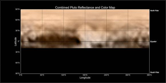 NASA nuotr./Plutono paviršiaus žemėlapis