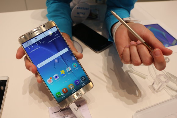 Pauliaus Grinkevičiaus nuotr./Samsung Galaxy Note 5