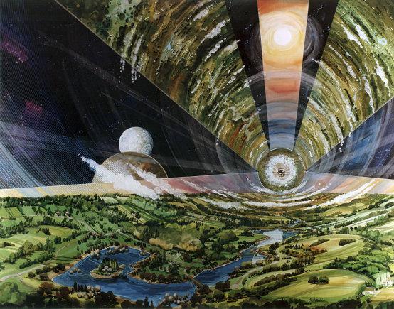 NASA nuotr./Taip galėtų atrodyti gyvenimas besisukančiame cilindre