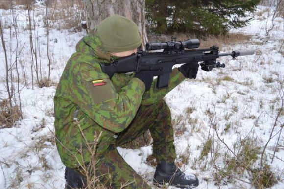 FN SCAR. kpt. Arūno Nagumanovo nuotr.