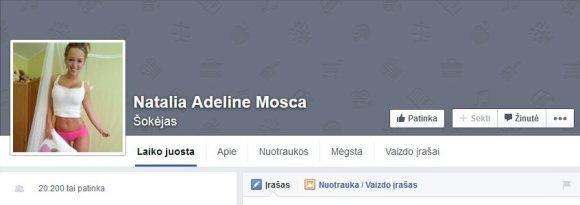 Facebook nuotr./Netikra Monikos Šalčiūtės anketa