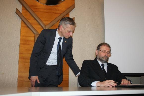 Tomo Markelevičiaus nuotr./Koalicijos sutarties pasirašymas Panevėžyje