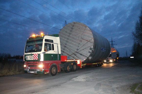 Tomo Markelevičiaus nuotr./Krovinio gabenimas per Panevėžį