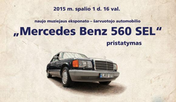 """Energetikos ir technikos muziejaus nuotr./V.Landsbergį vežiojęs šarvuotas """"Mercedes"""""""