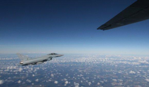 Alvydo Januševičiaus nuotr./Baltijos šalių oro padangėje treniravosi NATO sąjungininkų karinės oro pajėgos