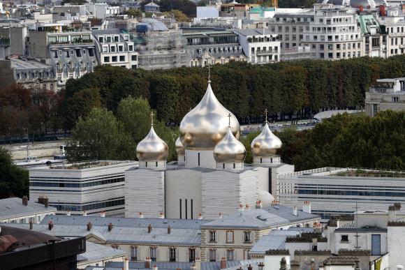 """""""Reuters""""/""""Scanpix"""" nuotr./Naujoji ortodoksų cerkvė Paryžiuje"""