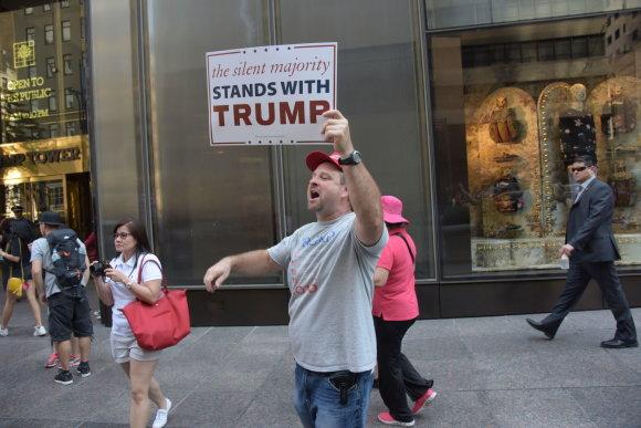 """""""Scanpix""""/""""Sipa USA"""" nuotr./Donaldo Trumpo rėmėjai JAV"""