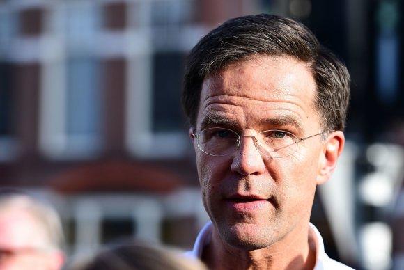 "AFP/""Scanpix"" nuotr./VVD lyderis ir Nyderlandų premjeras Markas Rutte"