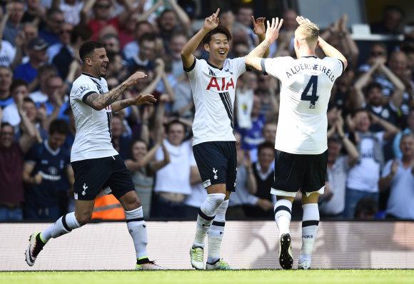 "AFP/""Scanpix"" nuotr./Londono ""Tottenham Hotspur"" futbolininkai"