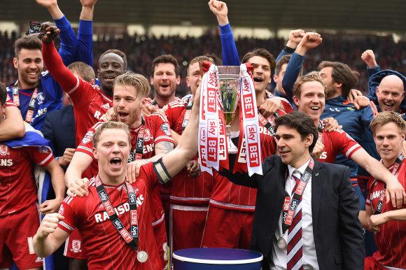 """""""Scanpix""""/""""PA Wire""""/""""Press Association Images"""" nuotr./""""Middlesbrough"""" iš antrojo pagal pajėgumą čempionato šoktelėjo į """"Premier"""" lygą"""