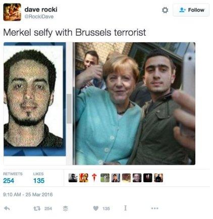 """""""Facebook"""" nuotr./Feisbuke netrūksta melo, esą A.Modamani – vienas Briuselyje išpuolius surengusių džihadistų."""