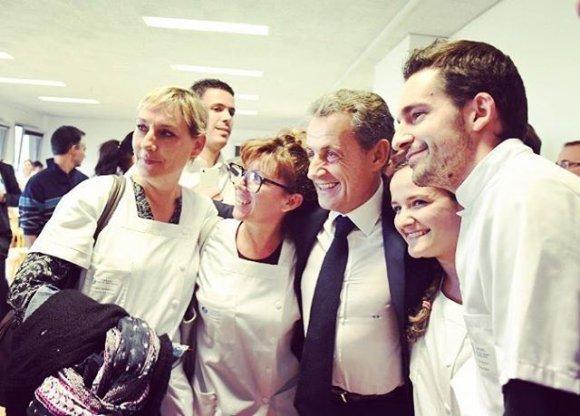 """""""Scanpix""""/""""Sipa USA"""" nuotr./Nicolas Sarkozy su savo rėmėjais"""