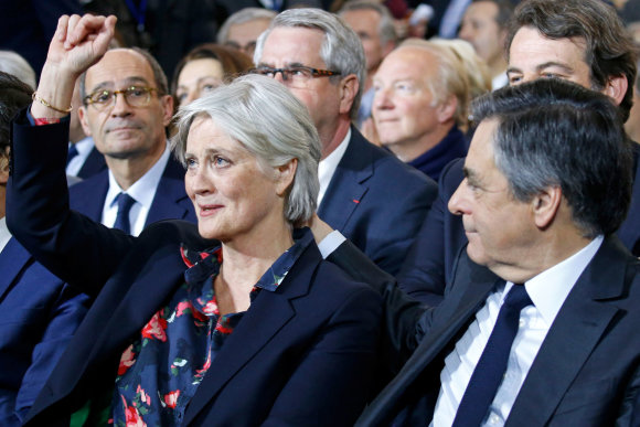 """Reuters""/""Scanpix"" nuotr./Francois Fillonas su žmona Penelope"