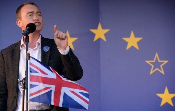 """AFP/""""Scanpix"""" nuotr./Jungtinės Karalystės liberalų demokratų partijos lyderis Timas Farronas"""