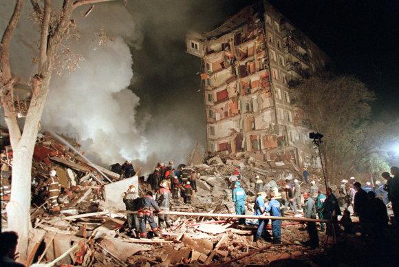 """""""Scanpix""""/AP nuotr./1999 metais susprogdintas daugiabutis Maskvoje"""