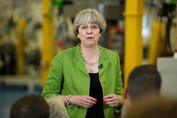 """Reuters""/""Scanpix"" nuotr./Theresa May debatuose nedalyvavo"