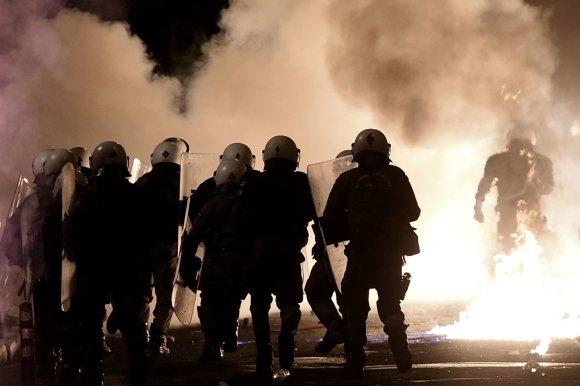 """AFP/""""Scanpix"""" nuotr./Atėnų Eksarchijos rajonas, vadinamas anarchizmo židiniu"""